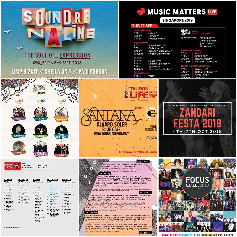 List of Festivals - Artists Management